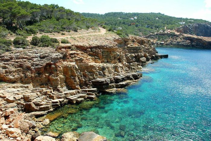 Playas tranquilas de Ibiza: punta galera